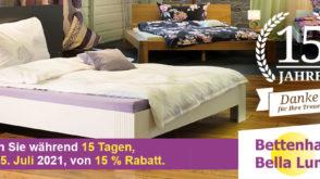 15 Jahre Bettenhaus Bella Luna